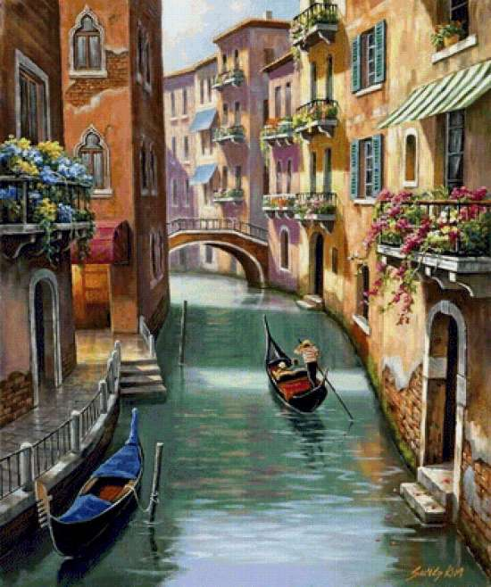 Картина по номерам 40x50 Венецианская улочка
